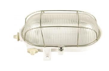 Светильник L5017 E27 60W WHITE с решеткой (МС)