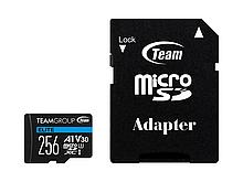 Team Group TEAUSDX256GIV30A103 карта памяти Elite MicroSDHC/SDXC 256GB U3 90MB/sec; Write: 45MB/sec + SD Adapt