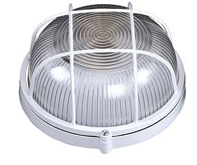 Светильник BH-001 E27 WHITE MEDIUM с решеткой IP54 (MS)
