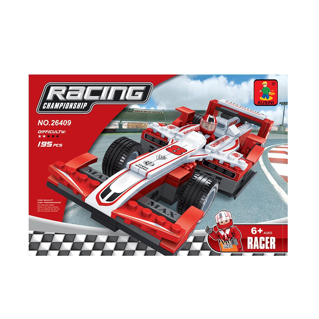 Игровой конструктор, Ausini, 26409, Гонки, Гоночный болид Формула-1, 195 деталей, Цветная коробка