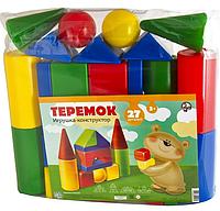 """Конструктор пластик. """"Теремок"""" 27 деталей, в сумке, цветной"""