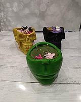 Магические свечи Череп из натурального воска., фото 1