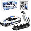 Упаковка помята!!! 660-A206 Полицейская машина - превращается в гараж для машин 36*18см