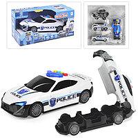 Упаковка помята!!! 660-A206 Полицейская машина - превращается в гараж для машин 36*18см, фото 1