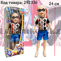 Кукла игрушечная детская Харли Квинн Harley Quinn в костюмчике 24 см