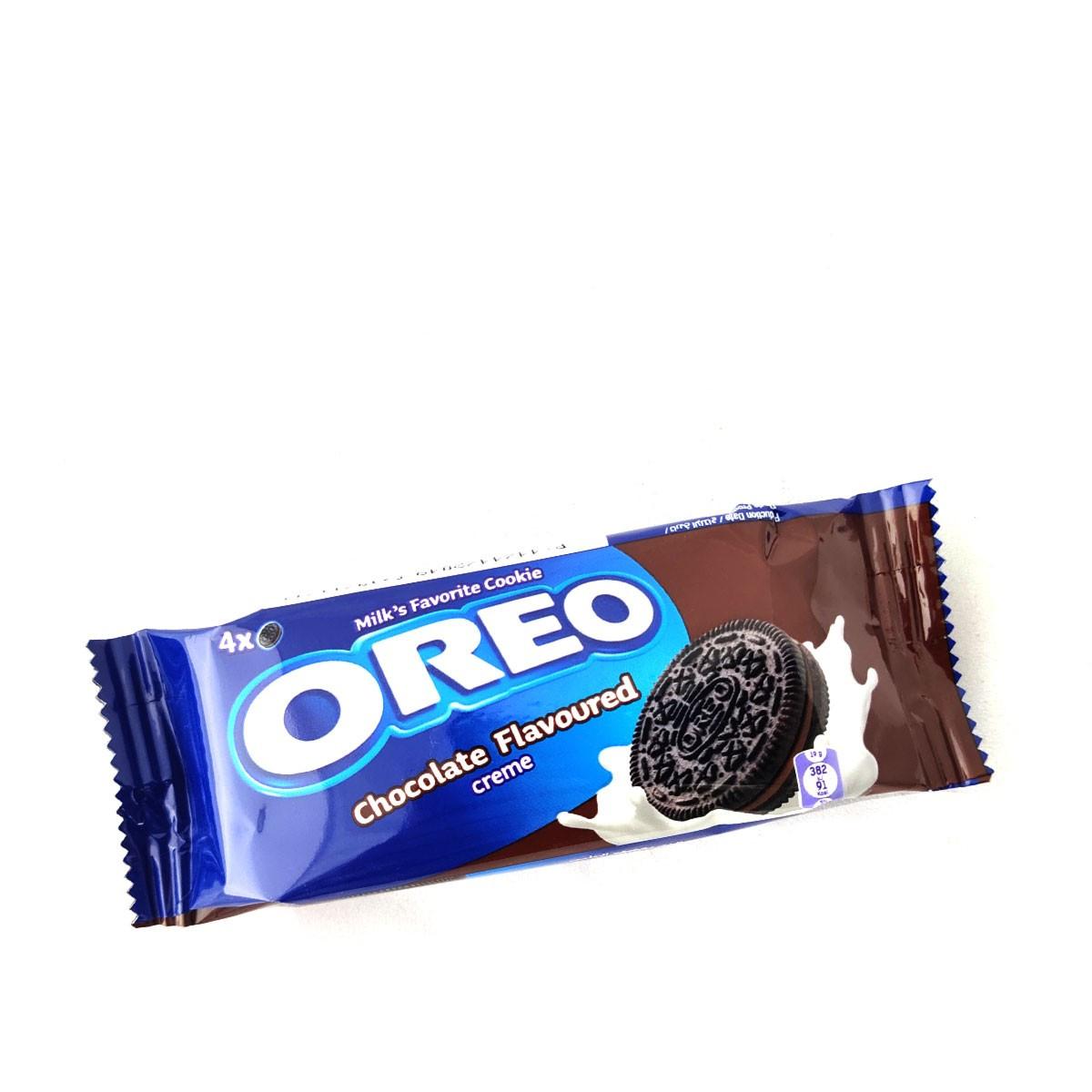 Печенье Oreo Chocolate cream 38гр 4шт Шоколадный крем (12шт-упак)