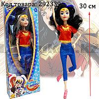 Кукла игрушечная детская Супер женщина Wonder women с подвижными ногами и руками 30 см