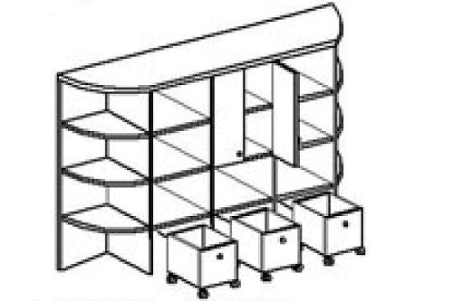 Стеллаж для игрушек КРЕПОСТЬ (1800х400х1480 мм) арт. СТКР