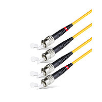 Патч Корд Оптоволоконный,, ST/UPC-ST/UPC SM 9/125 Duplex 3.0мм 1 м, Жёлтый, Пол. Пакет