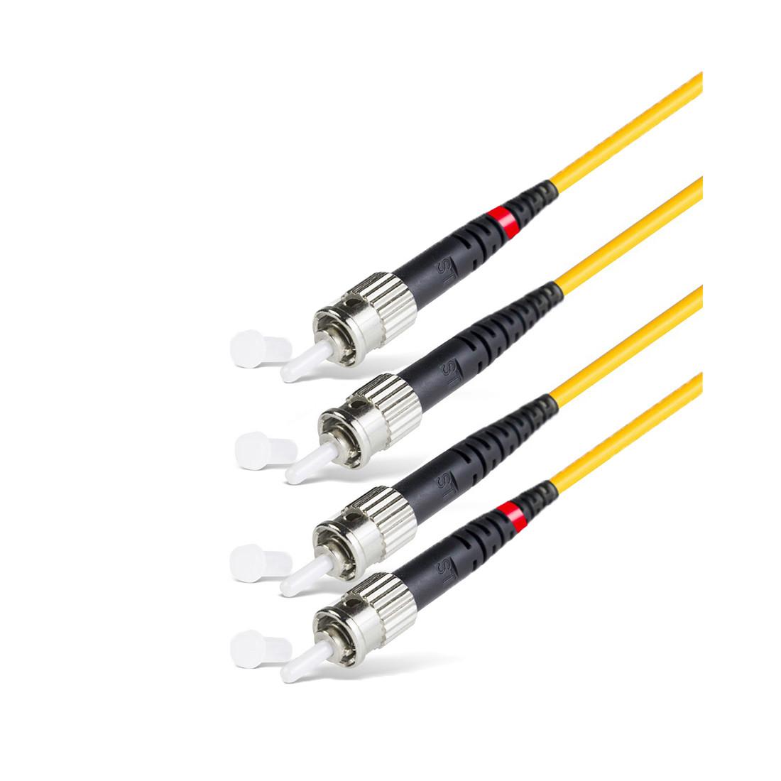 Патч Корд Оптоволоконный,, FC/UPC-ST/UPC SM 9/125 Duplex 3.0мм 0.5 м, Жёлтый, Пол. Пакет