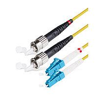Патч Корд Оптоволоконный,, LC/UPC-ST/UPC SM 9/125 Duplex 3.0мм 2 м, Жёлтый, Пол. Пакет