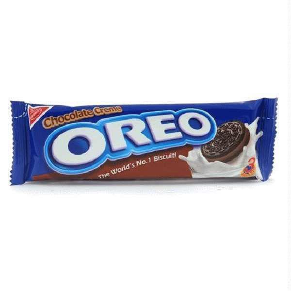 Орео Double Delight28,5гр шоколадно-арахисовой пастой 3 печеньки /12шт-упак/