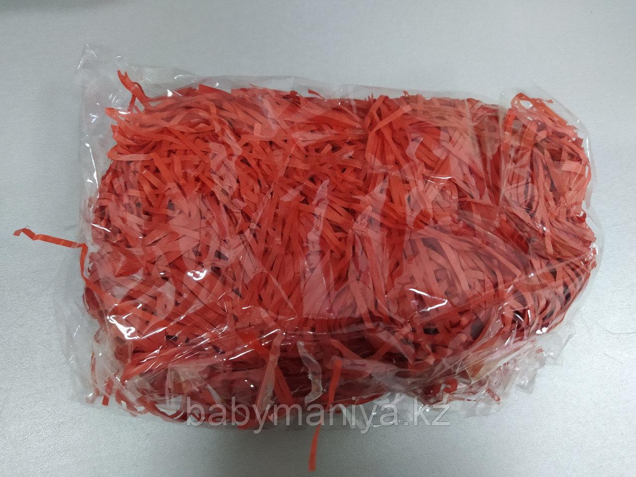 Бумажный наполнитель для оформления подарков, 50 гр, цвет красный