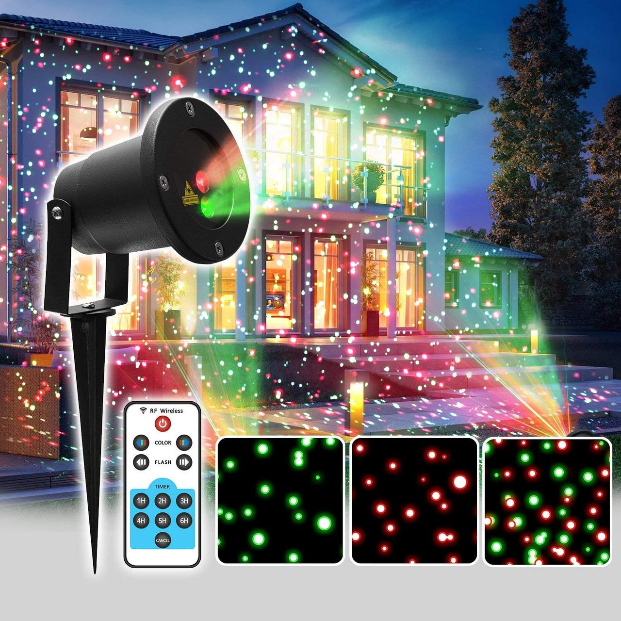 Проектор лазерный уличный с пультом.