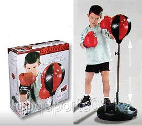 Детский набор для бокса груша напольная и перчатки 70-100 см