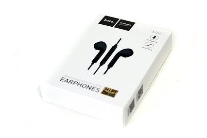 Проводная стерео-гарнитура Hoco M55 Memory Sound, mini Jack 3.5, вкладыши, микрофон, черные