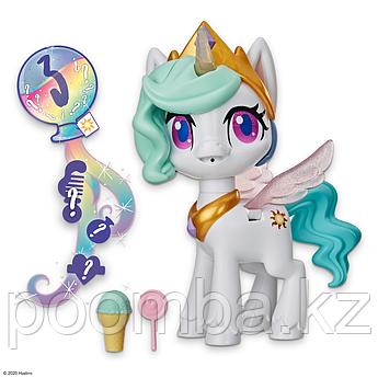 My Little Pony - Май литл пони интерактивная принцесса Селестия Волшебный поцелуй 25 см