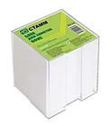 "Блок для записей СТАММ ""Офис"" белый в подставке 9х9х9 см"