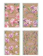 """Блокнот BG """"Floral&Craft"""" на спирали, А6, 40 листов в клетку"""