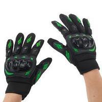 Перчатки для езды на мототехнике, с защитными вставками, пара, размер XL, черно-зеленый