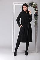 Женское осеннее черное нарядное большого размера платье Michel chic 2040 чёрный 46р.
