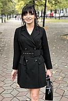 Женское осеннее черное деловое платье MEDIUM 5244 44р.
