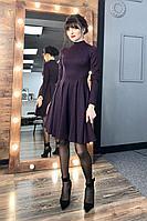 Женское осеннее трикотажное фиолетовое платье MEDIUM 5247 44р.