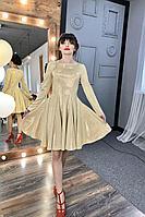 Женское осеннее бежевое нарядное платье MEDIUM 5250 46р.