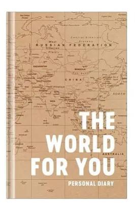 """Ежедневник OfficeSpace """"Путешествия. The World"""", недатированный, A5, 272 страницы, матовая ламинация"""