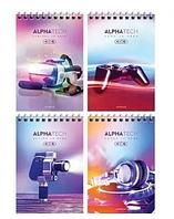 """Блокнот ArtSpace """"Увлечения. Neon. Alphatech"""" на спирали, А6, 40 листов в клетку"""