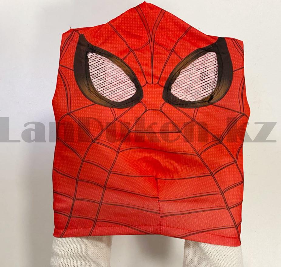 Костюм детский карнавальный цельный для мальчиков Человек Паук с мускулами - фото 8