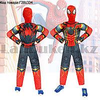 Костюм детский карнавальный цельный для мальчиков Человек Паук с мускулами