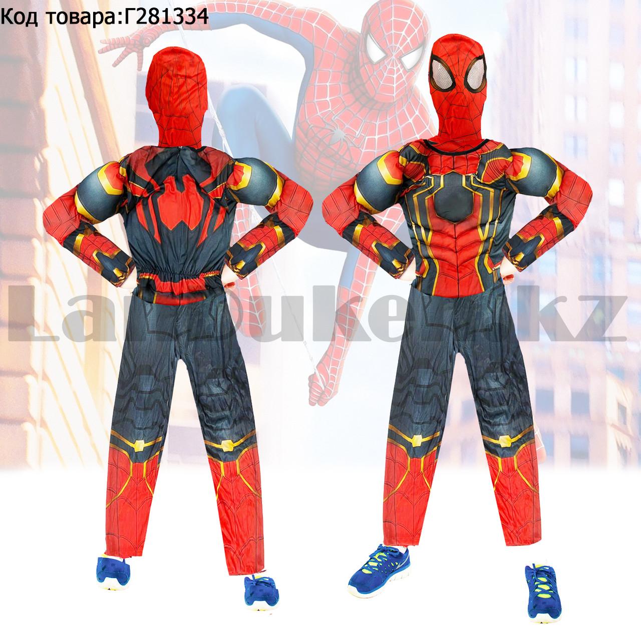 Костюм детский карнавальный цельный для мальчиков Человек Паук с мускулами - фото 1
