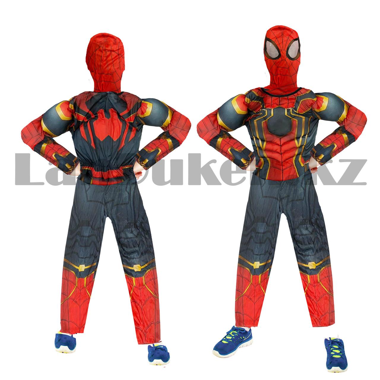 Костюм детский карнавальный цельный для мальчиков Человек Паук с мускулами - фото 10