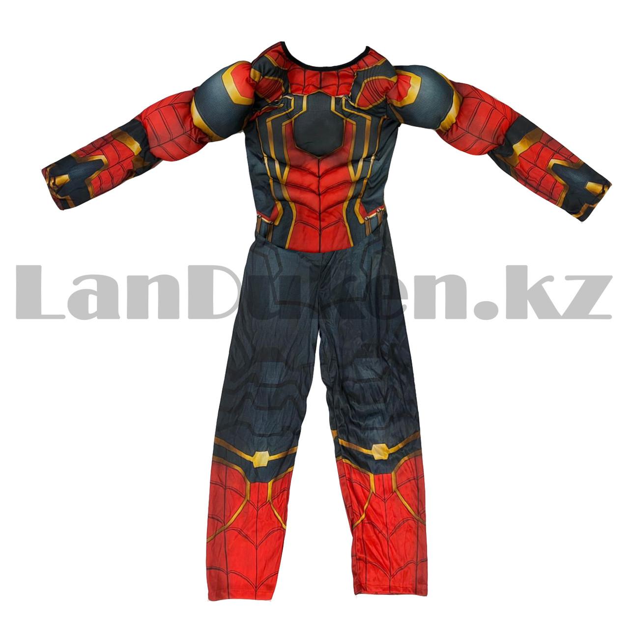 Костюм детский карнавальный цельный для мальчиков Человек Паук с мускулами - фото 2