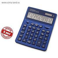 Калькулятор настольный Citizen 12-разр, 155*204*33мм, 2-е питание, темно-синий SDC-444XRNVE