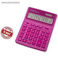 Калькулятор настольный Citizen 12-разр, 155*204*33мм, 2-е питание, розовый SDC-444XRPKE