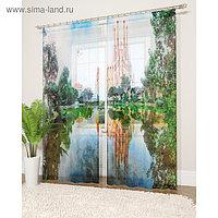 Фототюль «Шедевры Гауди», размер 145 х 260 см - 2 шт., вуаль