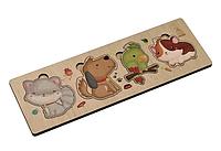 Деревянный пазлэто простая развивающая игра для малышей