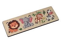 """Игра развивающая деревянная """"африканские животные"""" (30х10см) десятое королевство"""