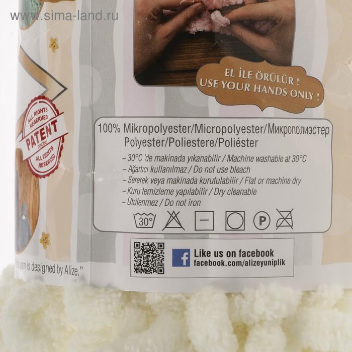 "Пряжа ""Puffy"" 100 % микрополиэстер 9м/100г (62 св. молочный) - фото 3"