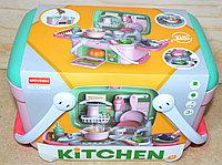 13M05 Кухня в корзинке Vanyeh  Kitchen на батарейках 24*23см, фото 1