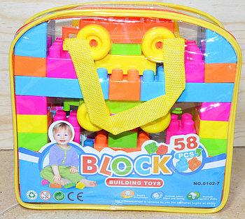 0102-7 Конструктор Block в сумочке 58 дет 22*21см