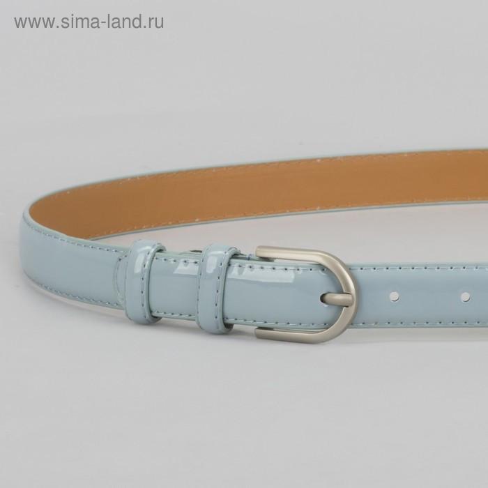 Ремень, 2 строчки, пряжка металл, ширина - 2,3 см, цвет голубой - фото 2