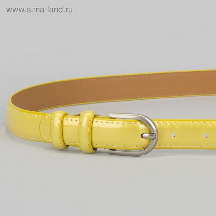 Ремень, 2 строчки, пряжка металл, ширина - 2,3 см, цвет жёлтый - фото 2