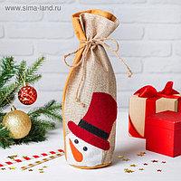 Одежда на бутылку «Снеговик морковный нос»