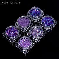 Набор для декора, цвет фиолетовый