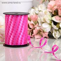 "Лента декоративная ""Наппа"", розовый, 10 мм х 250 м"