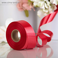 Лента для декора и подарков, красный, 3 см х 45 м