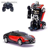 Робот радиоуправляемый «Гонщик», трансформируется, световые и звуковые эффекты, цвета МИКС